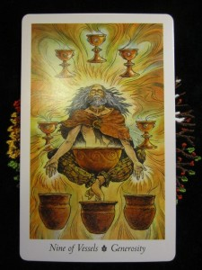 Card of the Day ~ 9 of Vessels
